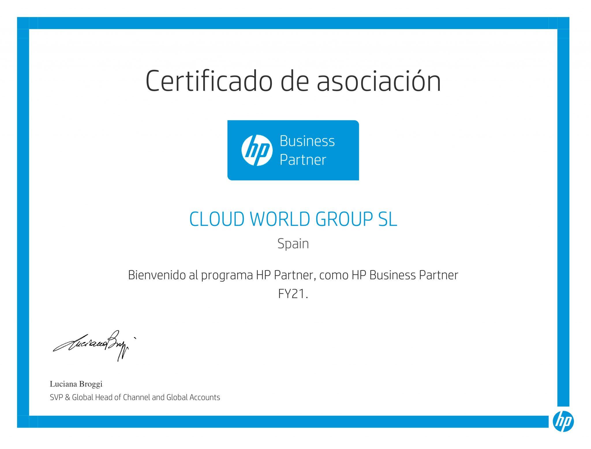 hp certificado