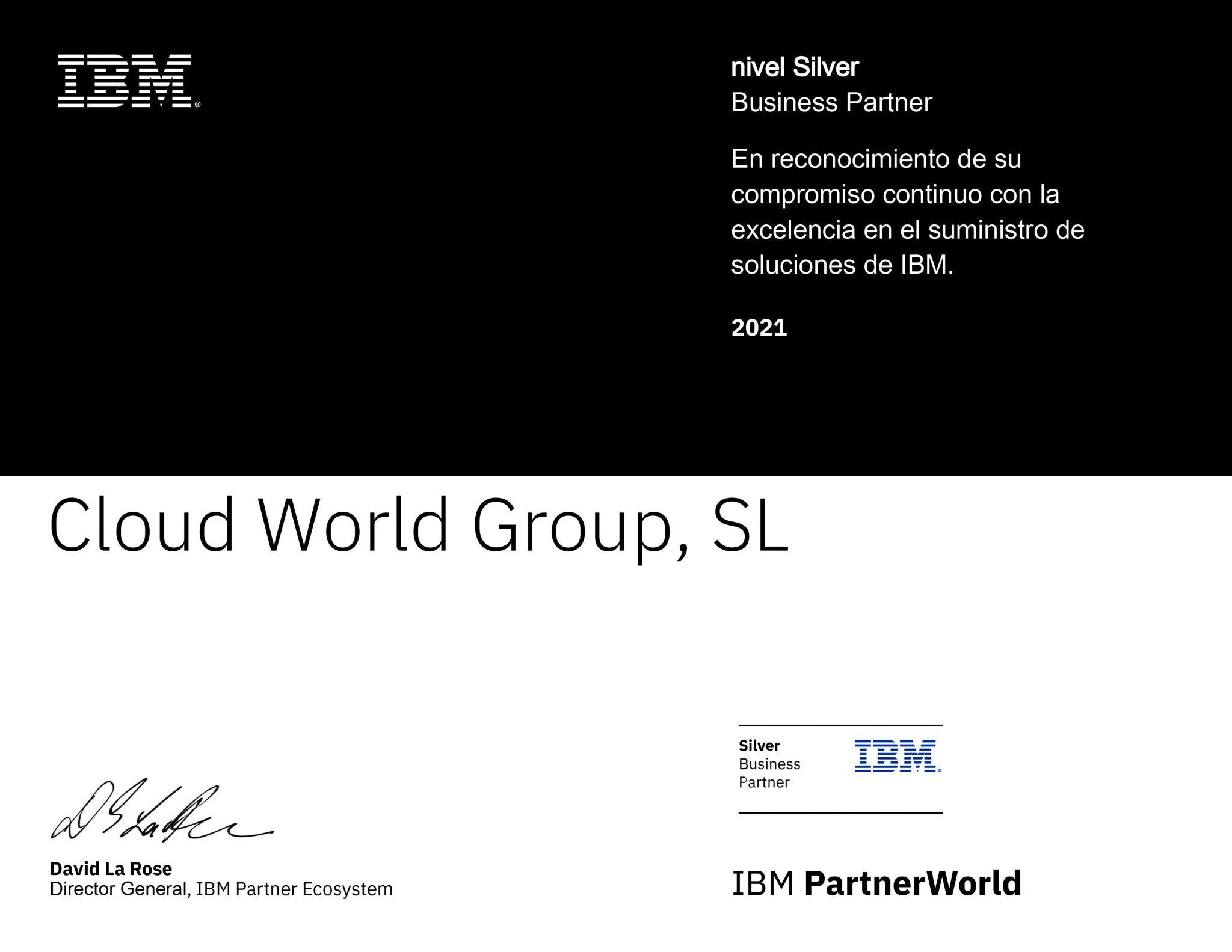 ibm certificado