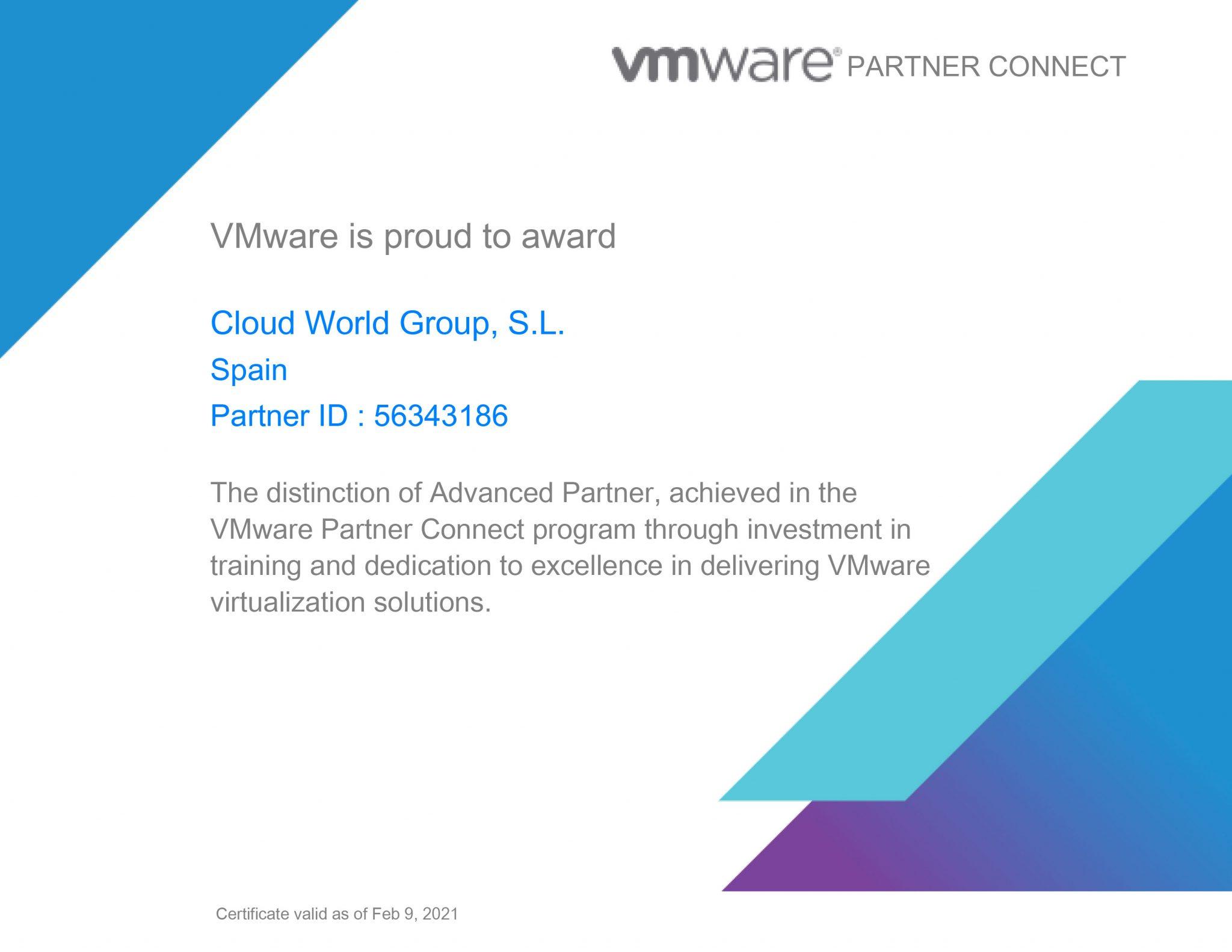 vmware certificado